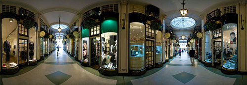 A 360 degree view from inside the Piccadilly Arcade.