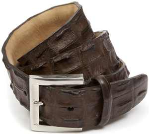 Pickett 'Hornback' Crocodile Men's Belt: £325.