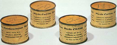 Artist's Shit (1961) by Piero Manzoni.