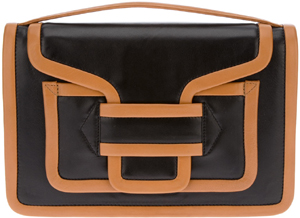 Pierre Hardy contrast trim envelope clutch: €875.
