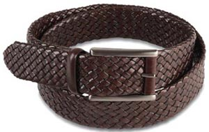 Pineider Woven Men's Leather Belt: €230.
