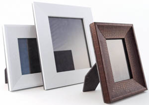 Pinetti leather photo frames.