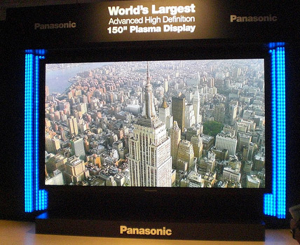 World's largest plasma tv: Panasonic 4K2K HD 3D.