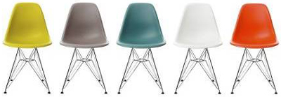 Eames Molded Plastic Chairs.