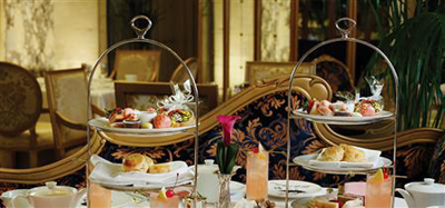 Afternoon Tea at The Palm Court at The Plaza, Fifth Avenue at Central Park South, New York City, NY 10019, U.S.A.