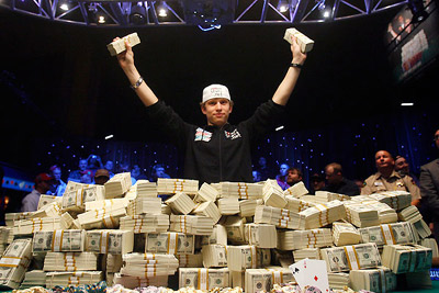 Winner of World Series of Poker 2008.