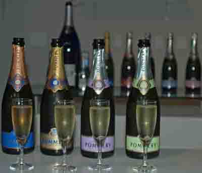 Pommery champagnes.