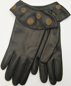 Portolano Women's Fall in Glove Nappa gloves with dots on cuff: US$133.