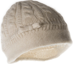 Portolano Ladies Cashmere Hat with cable: US$65.