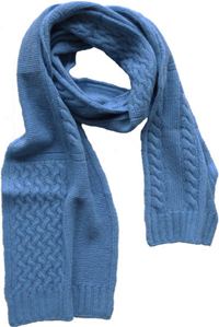 Portolano Women's Cashmere scarf with cable and rib detail: US$124.