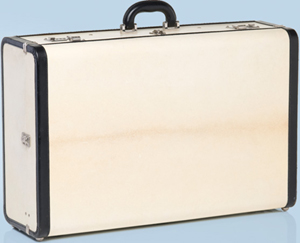 Prada Pergamena Hardside Luggage Beige+Black: US$3,050.