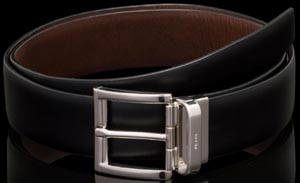 Prada Black/Ebony Leather Men's Belt: US$480.