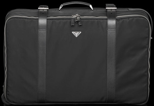 Prada Men's Saffiano Leather Trim Suitcase: US$2,395.
