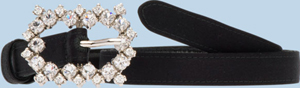 Prada Satin Belt With Applied Colored Crystals: US$400.