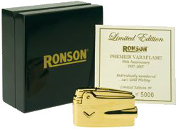 Ronson Varaflame 24ct Gold Limited Edition Lighter.