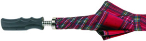 Golf Umbrella Red Tartan Umbrella Walking Stick: £24.99.
