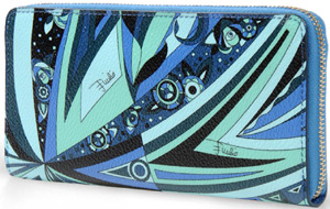 Emilio Pucci women's wallet in printed PVC: US$475.