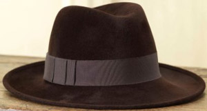 Purdey Philip Treacy Raiders Trilby Hat-Petersham Band: £580.