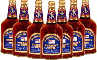 Pusser's Rum - 'The Original Navy Rum From 1655'.