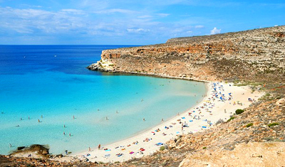 Rabbit Beach, Lampedusa, Italy.
