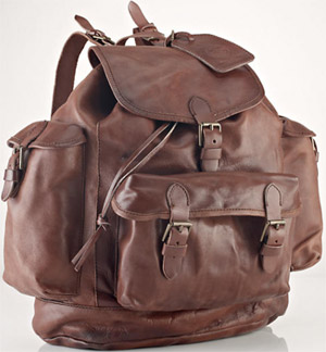 Polo Ralph Lauren Leather Backpack: US$498.