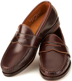 Rancourt Shell Cordovan Weltline Penny Loafers: US$615.