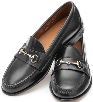Rancourt Women's Horsebit Loafers - Black Calfskin: US$280.