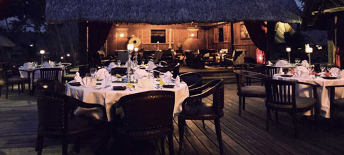 The Restaurant at Ratua Private Island.