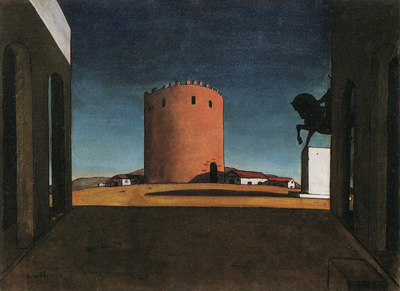 The Red Tower (1913) by Giorgio de Chirico.