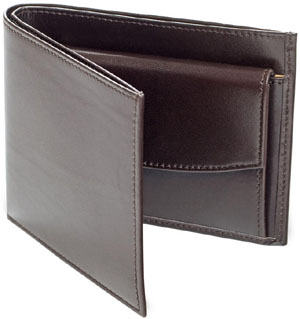 Ludwig Reiter Portemonnaie Mens wallet made of Aniline Boxcalf leather with four credit card compartments.