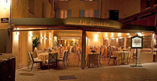 The gourmet restaurant at Hotel La Ponche.