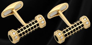 Stefano Ricci Yellow Gold Cufflinks with Diamonds and Enarmel: €9,250.