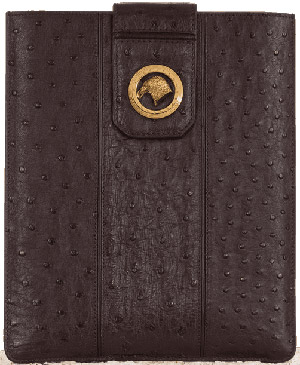 Stefano Ricci iPad case made of ostrich leather with suede lining: €1,500.