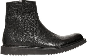Rick Owens Men's Side Zipped Pebbled Leather Low Boots: €972.01.