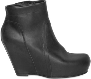 Rick Owens Women's 100mm Calfskin Low Boot Wedges: €891.