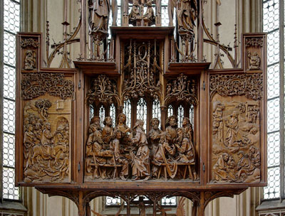 Holy Blood Altar by Tilman Riemenschneider in Rothenburg ob der Tauber.