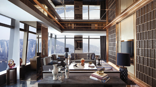 The Ritz-Carlton Suite at the Ritz-Carlton hotel, International Commerce Centre, 1 Austin Road West, Kowloon, Hong Kong, SAR.