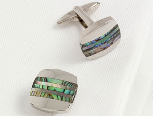 Roderick Charles Rhodium Plated Square Cufflinks: £59.