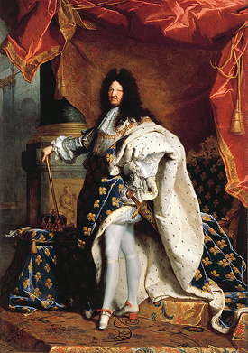 Louis XIV of France (1701) by Hyacinthe Rigaud.