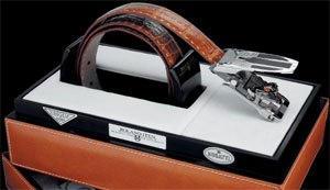 Calibre R22 Mark I Bugatti Edition belt by Roland Iten: US$84,000.