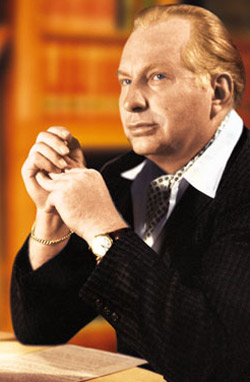 L. Ron Hubbard, founder of Scientology.