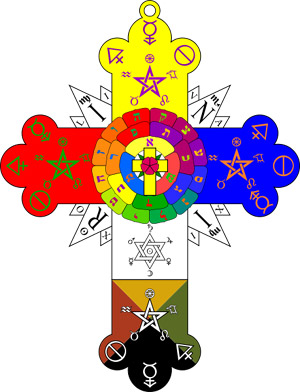 Rosicrucianism is symbolized by the Rosy Cross.