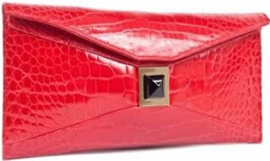 Kara Ross Stretch Prunella, Red Alligator Handbag: US$4,090.