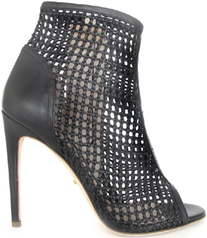 Jerome C. Rousseau Juda Black woven leather women's shoe: US$895.