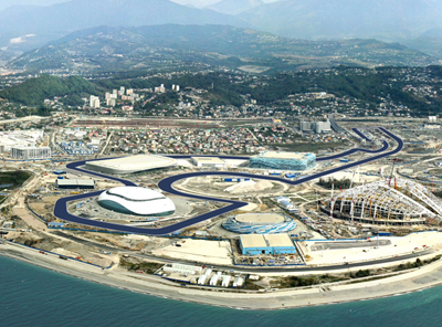 Sochi Olympic Park Circuit, Adlersky District, Sochi, Krasnodar Krai, Russia.