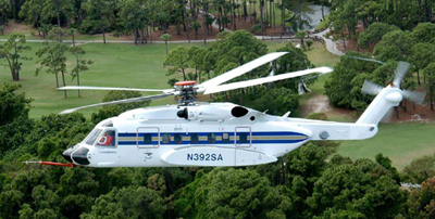 Sikorsky S-92 helicopter.