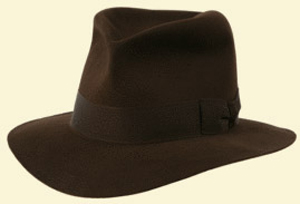 The original famous Herbert Johnson Indiana Jones Poet as worn by Harrison Ford still made by Herbert Johnson today: £350.