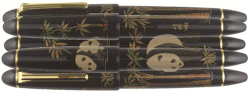 Sailor Endangered Species Collection: Giant Panda (Maki-e decoration by Nishihara - 88 pieces world wide).