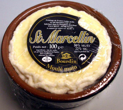 Saint-Marcellin cheese.