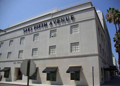 Saks Fifth Avenue, 9600 Wilshire Blvd, Beverly Hills, CA 90212.